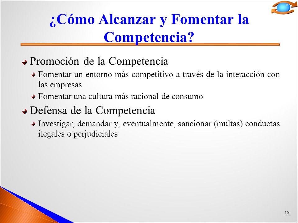 10 ¿Cómo Alcanzar y Fomentar la Competencia.