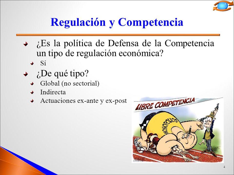4 Regulación y Competencia ¿Es la política de Defensa de la Competencia un tipo de regulación económica.
