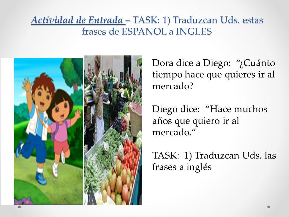 Actividad de Entrada – TASK: 1) Traduzcan Uds.