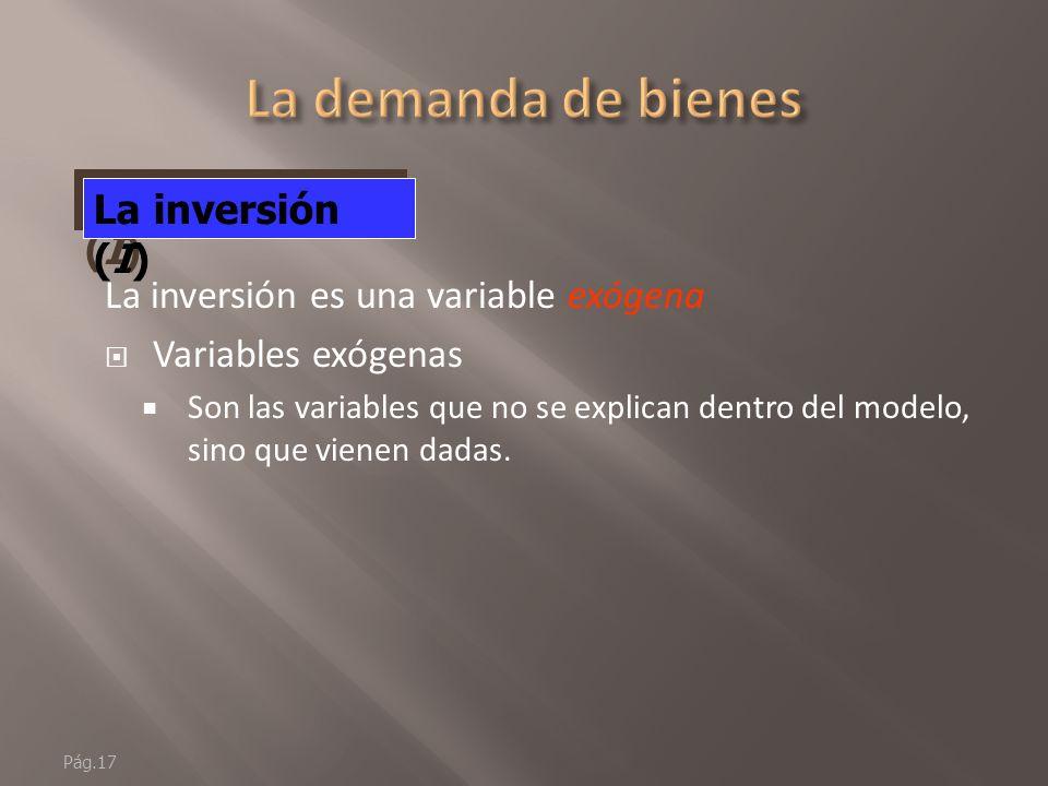 Pág.16 C = C 0 - cY D El consumo (C)