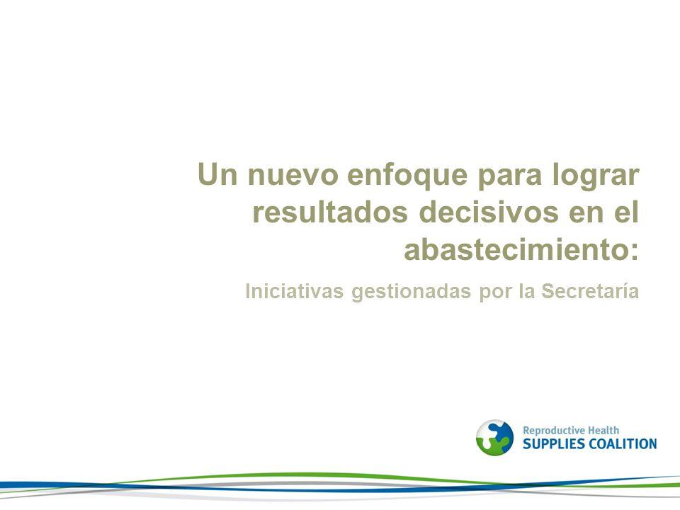 Un nuevo enfoque para lograr resultados decisivos en el abastecimiento: Iniciativas gestionadas por la Secretaría