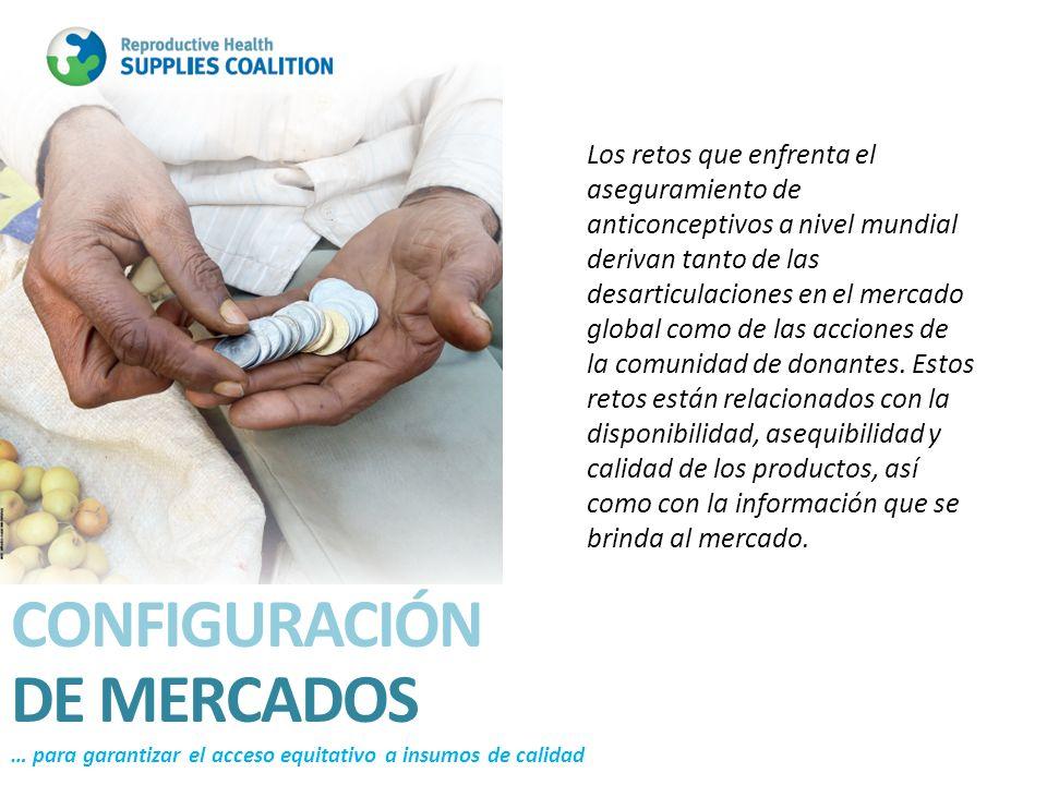 Los retos que enfrenta el aseguramiento de anticonceptivos a nivel mundial derivan tanto de las desarticulaciones en el mercado global como de las acc