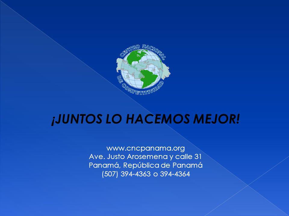 ¡ JUNTOS LO HACEMOS MEJOR! www.cncpanama.org Ave. Justo Arosemena y calle 31 Panamá, República de Panamá (507) 394-4363 o 394-4364