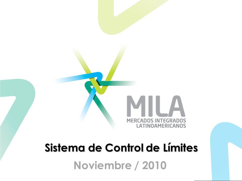 Menús del Sistema El Sistema contará con los siguientes menús: Página de bienvenida al sistema Página de Ayuda Página para visualización de Acuerdos y configuración de límites