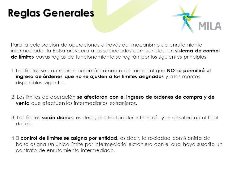 Reglas Generales Para la celebración de operaciones a través del mecanismo de enrutamiento intermediado, la Bolsa proveerá a las sociedades comisionis