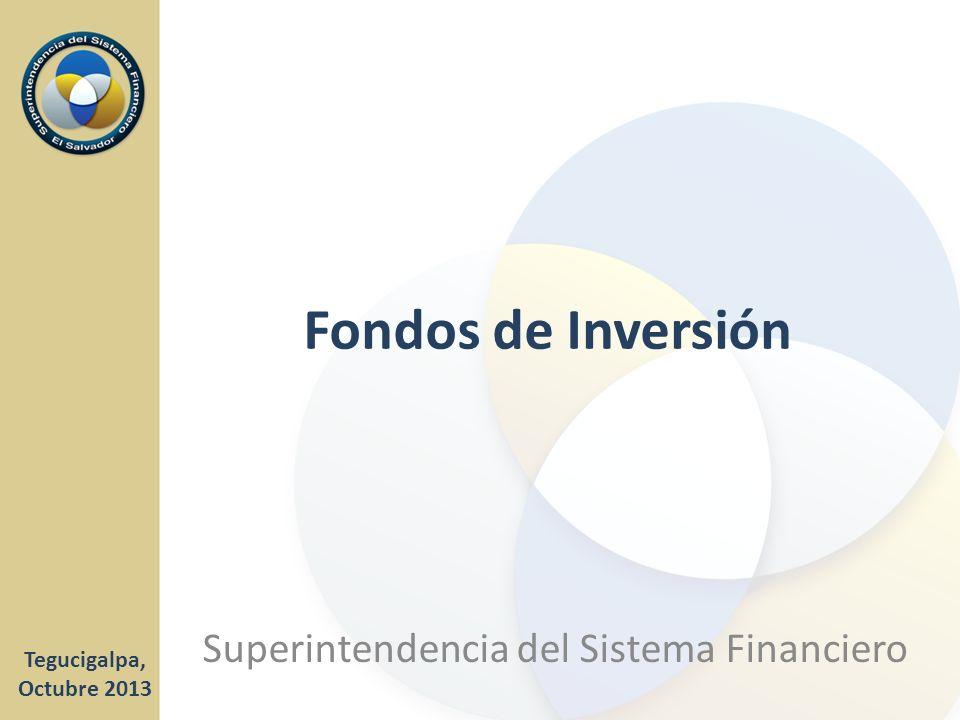 Fondos de Inversión Tegucigalpa, Octubre 2013 Superintendencia del Sistema Financiero