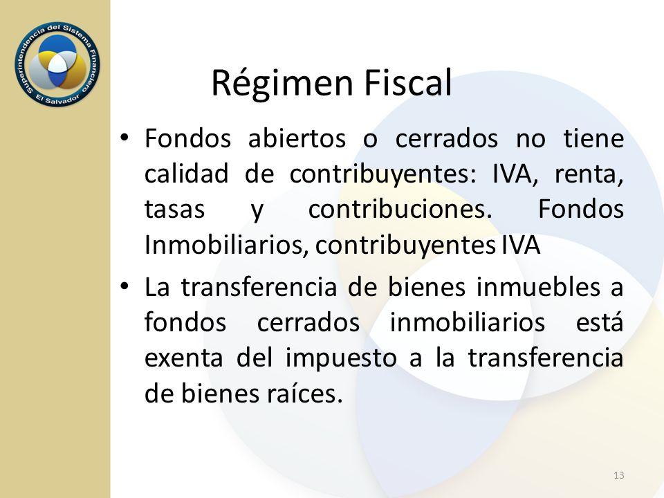 Fondos abiertos o cerrados no tiene calidad de contribuyentes: IVA, renta, tasas y contribuciones. Fondos Inmobiliarios, contribuyentes IVA La transfe