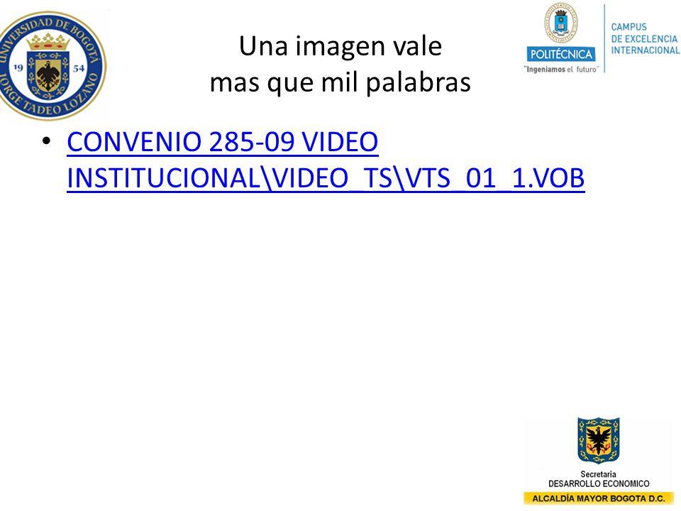 Una imagen vale mas que mil palabras CONVENIO 285-09 VIDEO INSTITUCIONAL\VIDEO_TS\VTS_01_1.VOB CONVENIO 285-09 VIDEO INSTITUCIONAL\VIDEO_TS\VTS_01_1.V