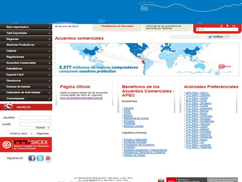 Herramientas adicionales Línea de Atención al Exportador: 207 1530 / 7192999 Atención Empresarial: Lima, Loreto, Piura, Lambayeque, Junín, Arequipa y Cuzco.