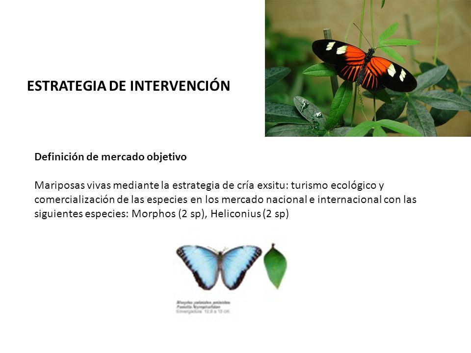 Definición de mercado objetivo Mariposas vivas mediante la estrategia de cría exsitu: turismo ecológico y comercialización de las especies en los merc