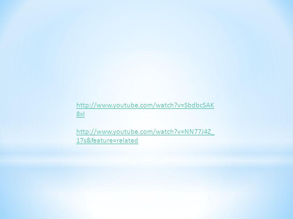 http://www.youtube.com/watch?v=SbdbcSAK 8xI http://www.youtube.com/watch?v=NN77J4Z_ 17s&feature=related