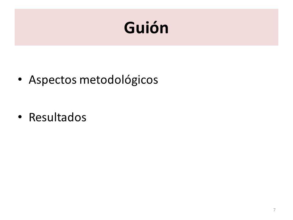 Guión Aspectos metodológicos Resultados 7
