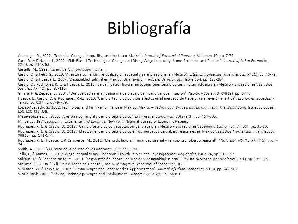 Bibliografía Acemoglu, D., 2002.