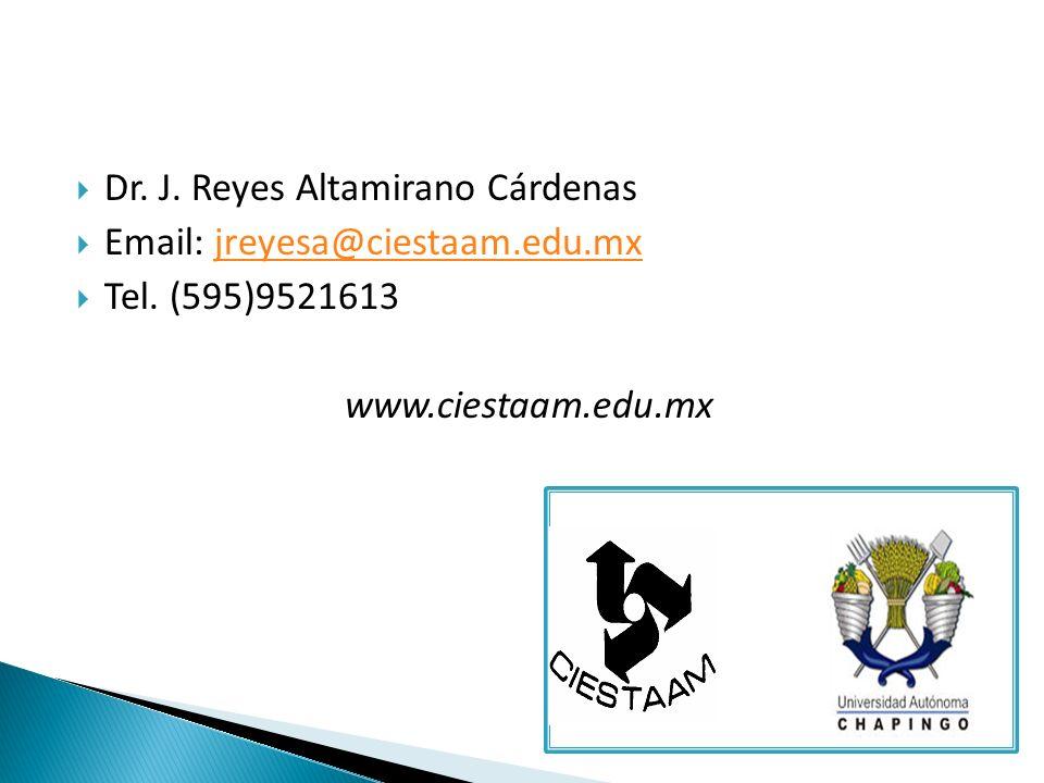 Dr. J. Reyes Altamirano Cárdenas Email: jreyesa@ciestaam.edu.mxjreyesa@ciestaam.edu.mx Tel.