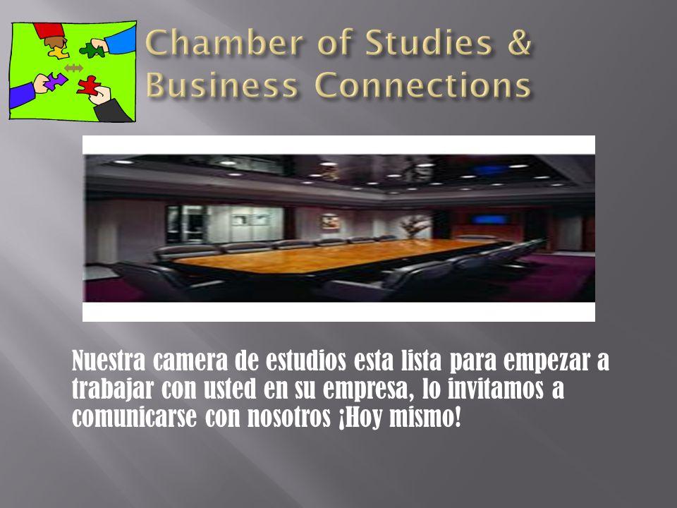 Nuestra camera de estudios esta lista para empezar a trabajar con usted en su empresa, lo invitamos a comunicarse con nosotros ¡Hoy mismo!