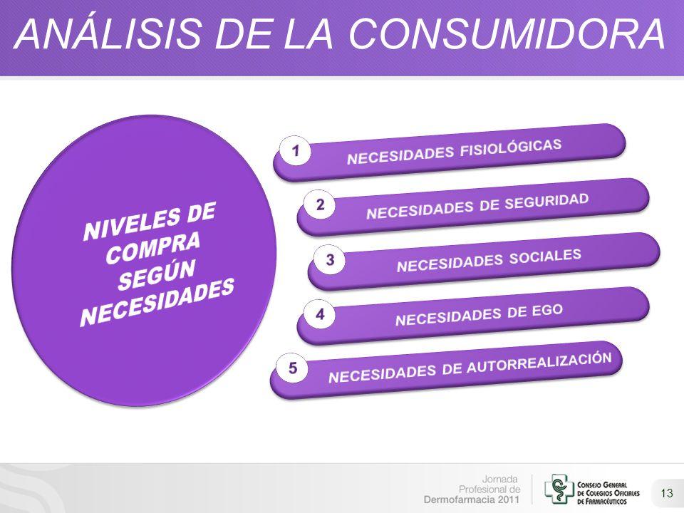 13 ANÁLISIS DE LA CONSUMIDORA