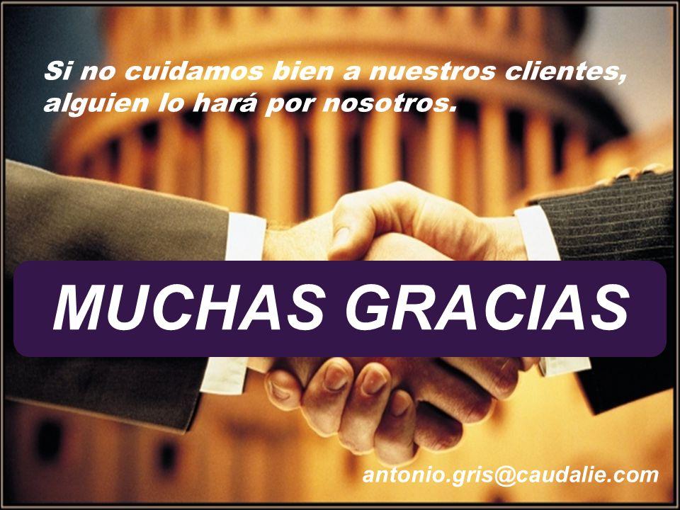 31 antonio.gris@caudalie.com Si no cuidamos bien a nuestros clientes, alguien lo hará por nosotros. MUCHAS GRACIAS