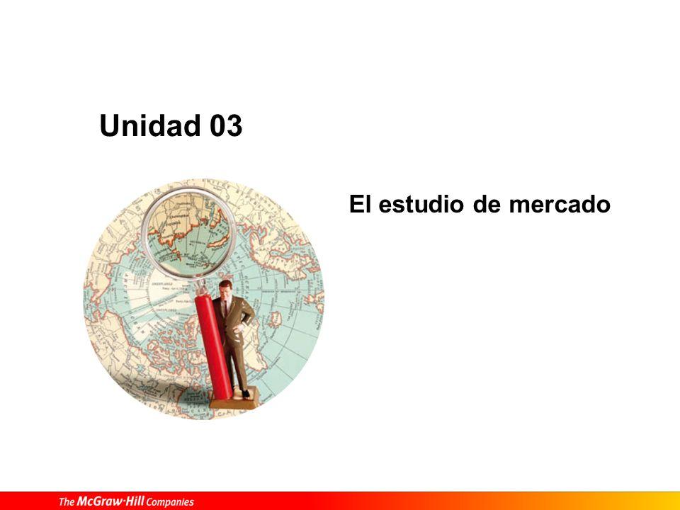 El estudio de mercado Unidad 03