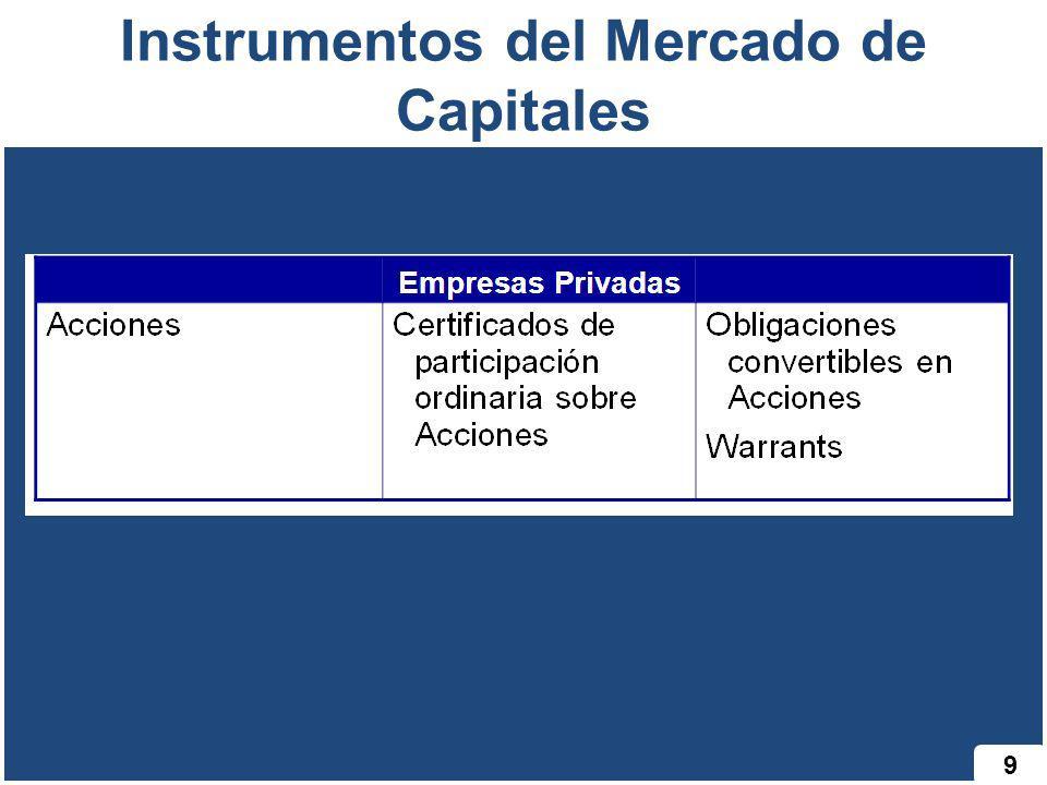 Instrumentos del Mercado de Capitales 9