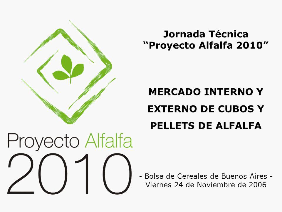 MERCADO INTERNO Y EXTERNO DE CUBOS Y PELLETS DE ALFALFA Jornada Técnica Proyecto Alfalfa 2010 - Bolsa de Cereales de Buenos Aires - Viernes 24 de Novi