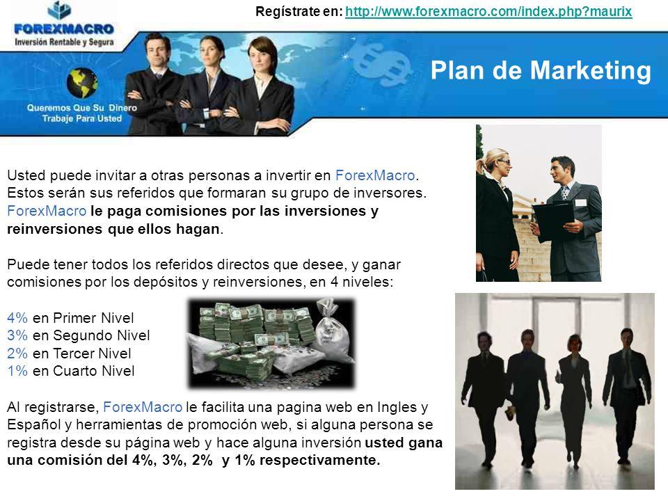 Regístrate en: http://www.forexmacro.com/index.php?maurixhttp://www.forexmacro.com/index.php?maurix Usted puede invitar a otras personas a invertir en ForexMacro.