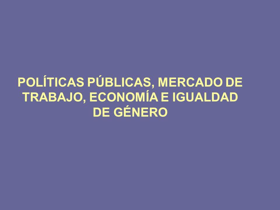 POLÍTICAS PÚBLICAS, MERCADO DE TRABAJO, ECONOMÍA E IGUALDAD DE GÉNERO