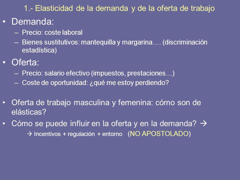 3.- Políticas públicas, economía e igualdad de género Olvido del trabajo doméstico: El trabajo doméstico debe ser valorado, pero….