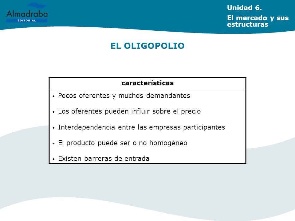 LA COMPETENCIA MONOPOLÍSTICA Unidad 6.