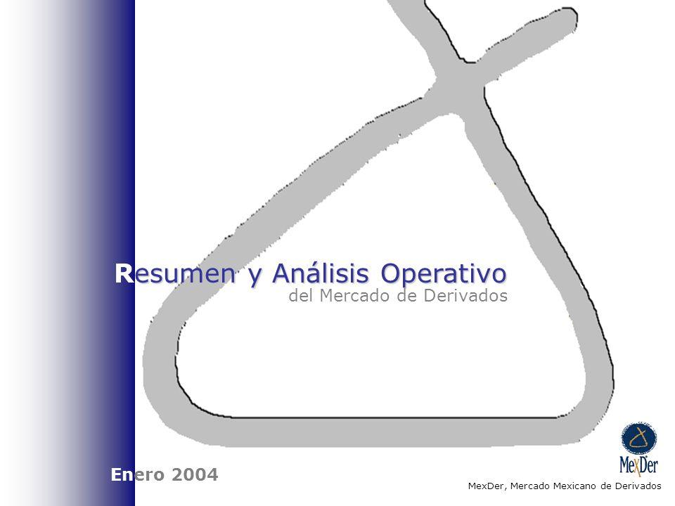 esumen y Análisis Operativo Resumen y Análisis Operativo del Mercado de Derivados MexDer, Mercado Mexicano de Derivados Enero 2004