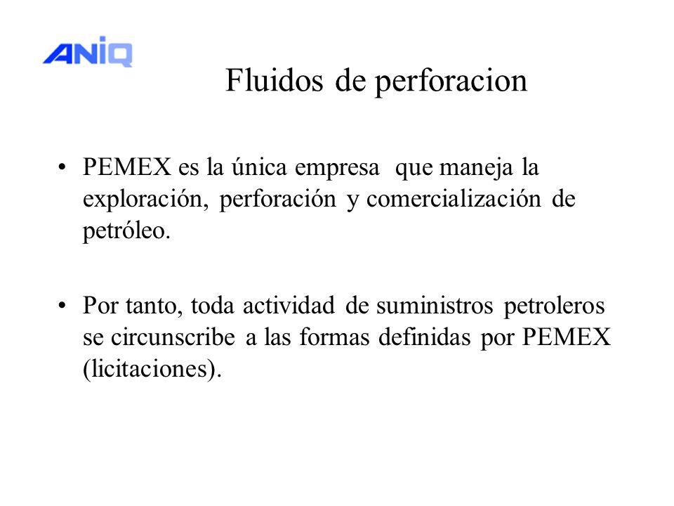 Fluidos de perforacion PEMEX es la única empresa que maneja la exploración, perforación y comercialización de petróleo. Por tanto, toda actividad de s
