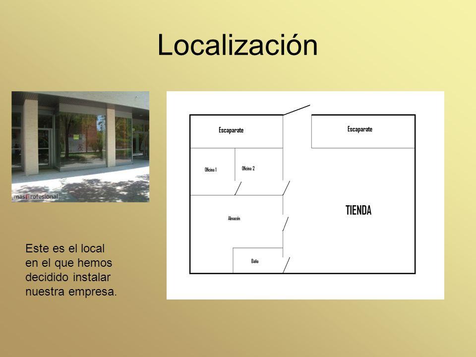 Localización Este es el local en el que hemos decidido instalar nuestra empresa.