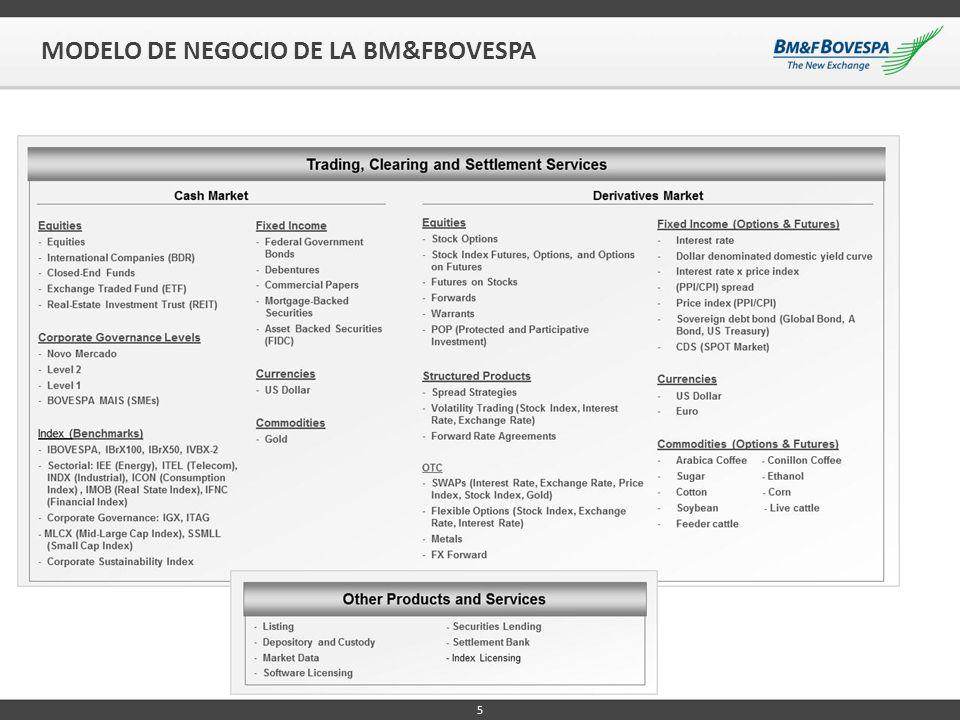 5 MODELO DE NEGOCIO DE LA BM&FBOVESPA