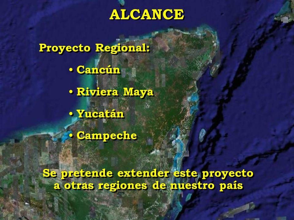 Proyecto Regional: Cancún Riviera Maya Yucatán Campeche Se pretende extender este proyecto a otras regiones de nuestro país Proyecto Regional: Cancún