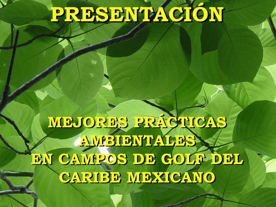 PRESENTACIÓN MEJORES PRÁCTICAS AMBIENTALES EN CAMPOS DE GOLF DEL CARIBE MEXICANO MEJORES PRÁCTICAS AMBIENTALES EN CAMPOS DE GOLF DEL CARIBE MEXICANO
