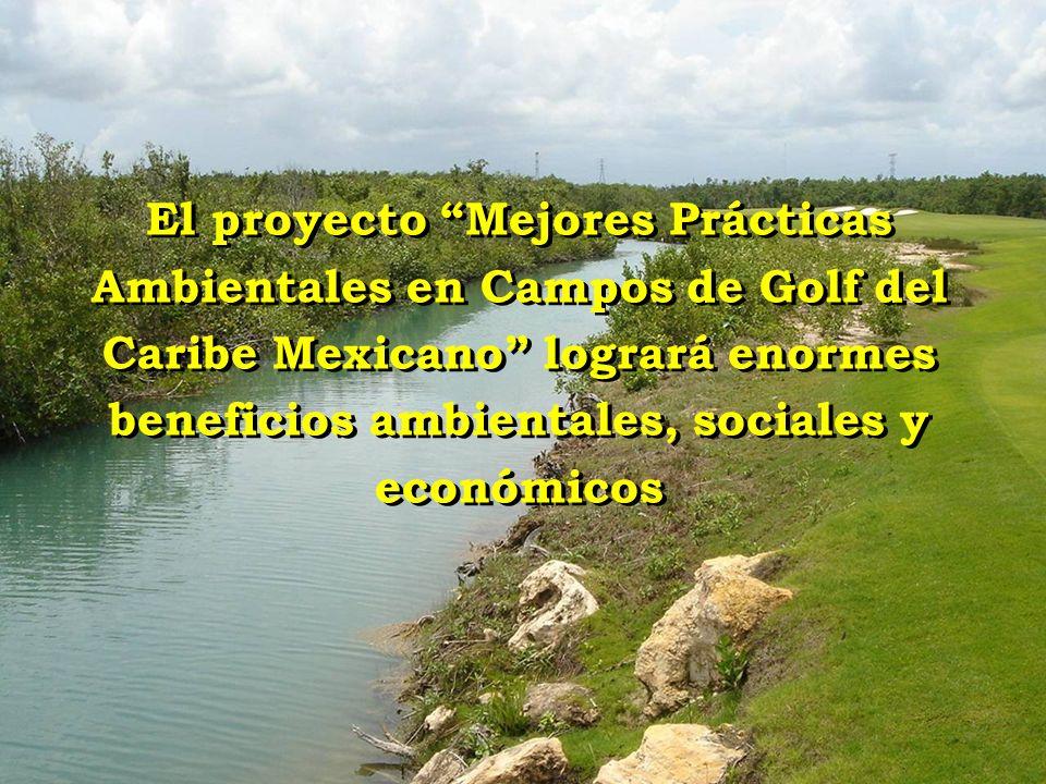 El proyecto Mejores Prácticas Ambientales en Campos de Golf del Caribe Mexicano logrará enormes beneficios ambientales, sociales y económicos