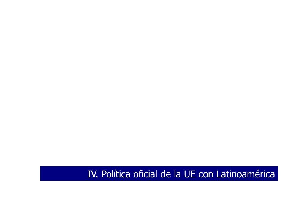 IV. Política oficial de la UE con Latinoamérica