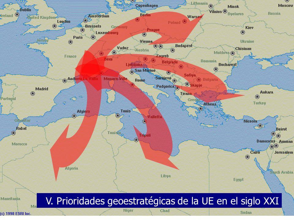 V. Prioridades geoestratégicas de la UE en el siglo XXI
