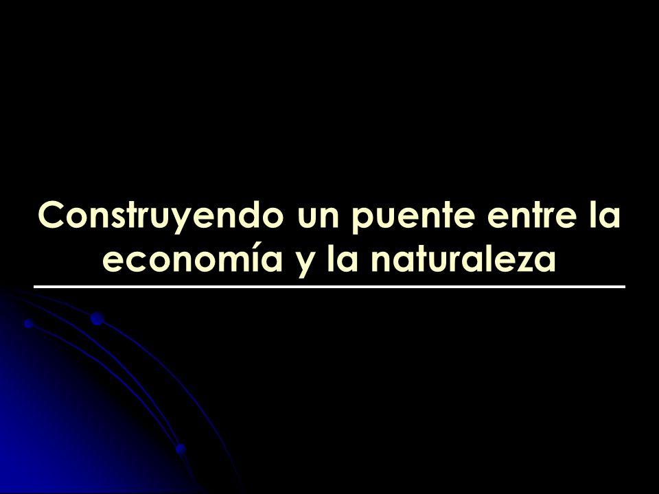 Construyendo un puente entre la economía y la naturaleza