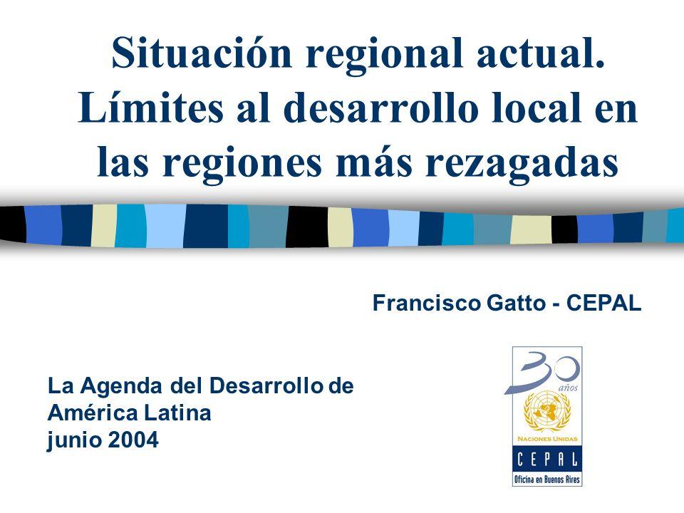 Situación regional actual.