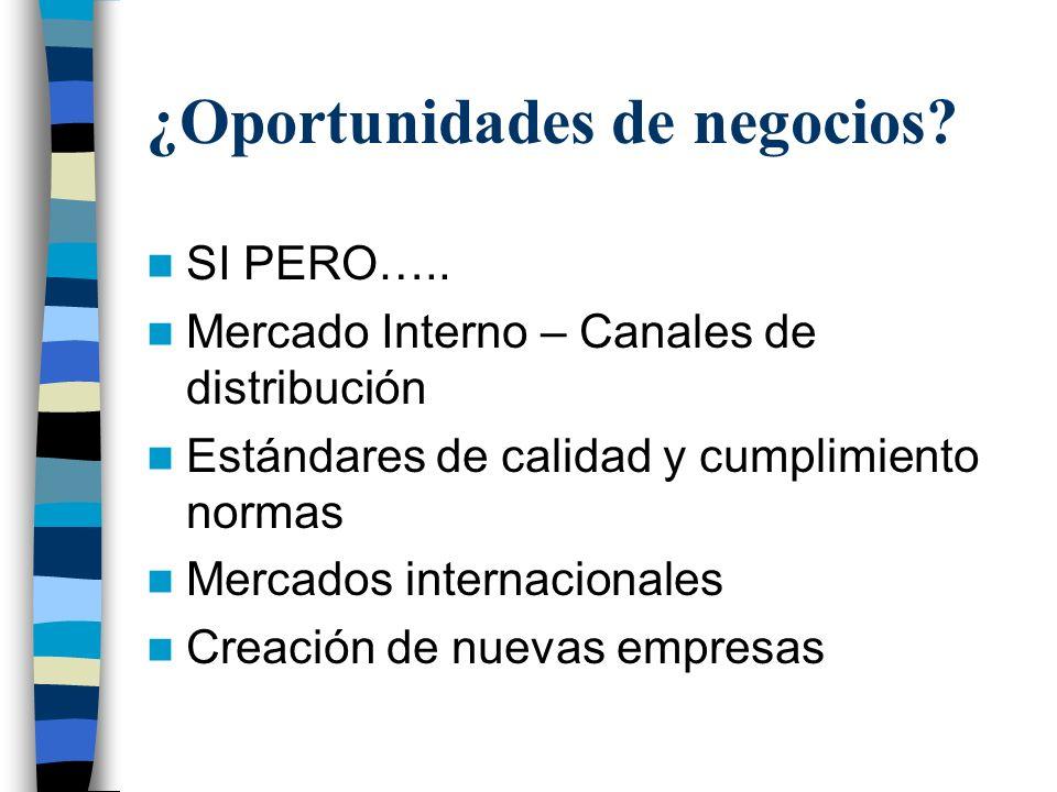 ¿Oportunidades de negocios.SI PERO…..