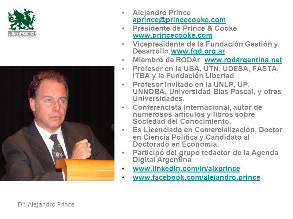 Dr. Alejandro Prince Alejandro Prince aprince@princecooke.com aprince@princecooke.com Presidente de Prince & Cooke www.princecooke.com www.princecooke