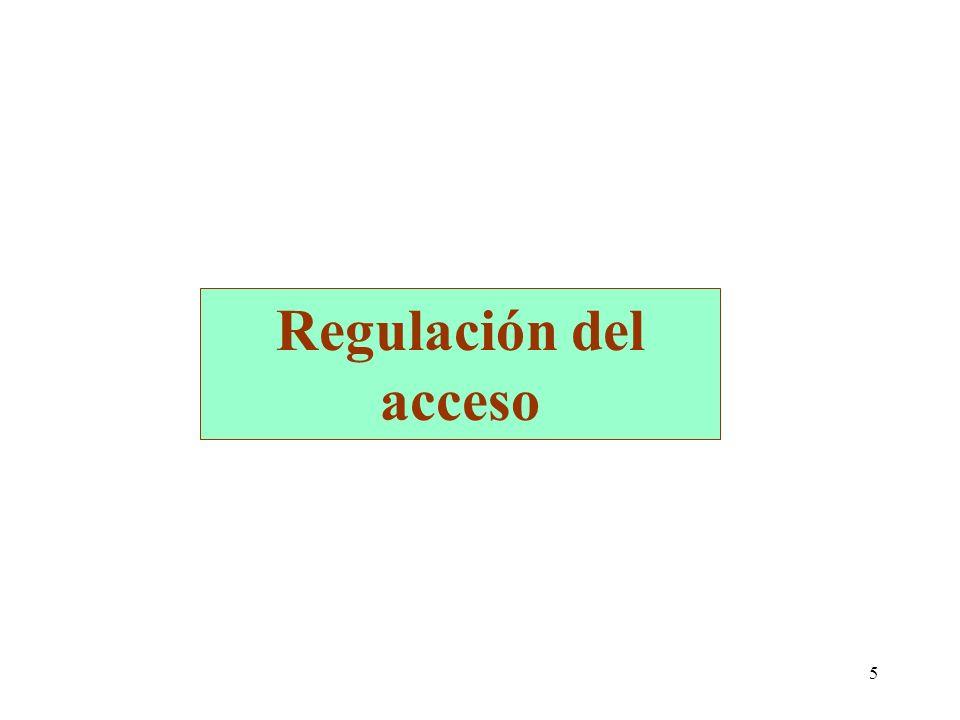 5 Regulación del acceso