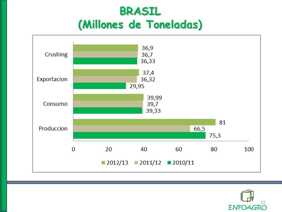 BRASIL (Millones de Toneladas) 33
