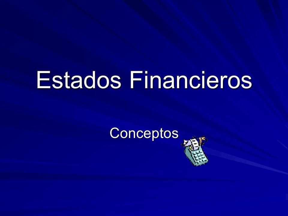 Estados Financieros Conceptos