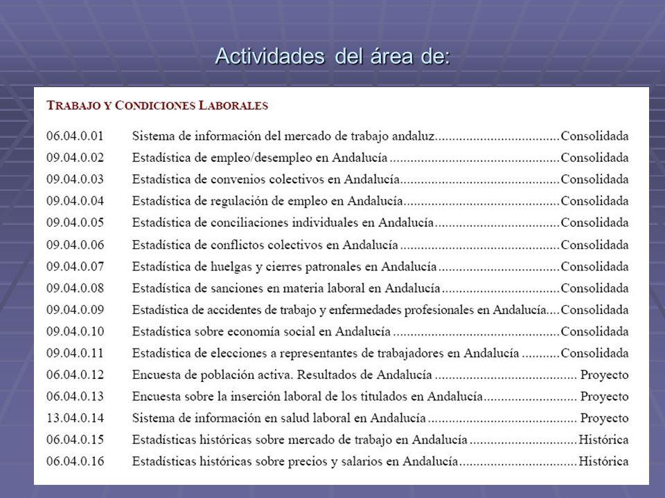 Actividades del área de: