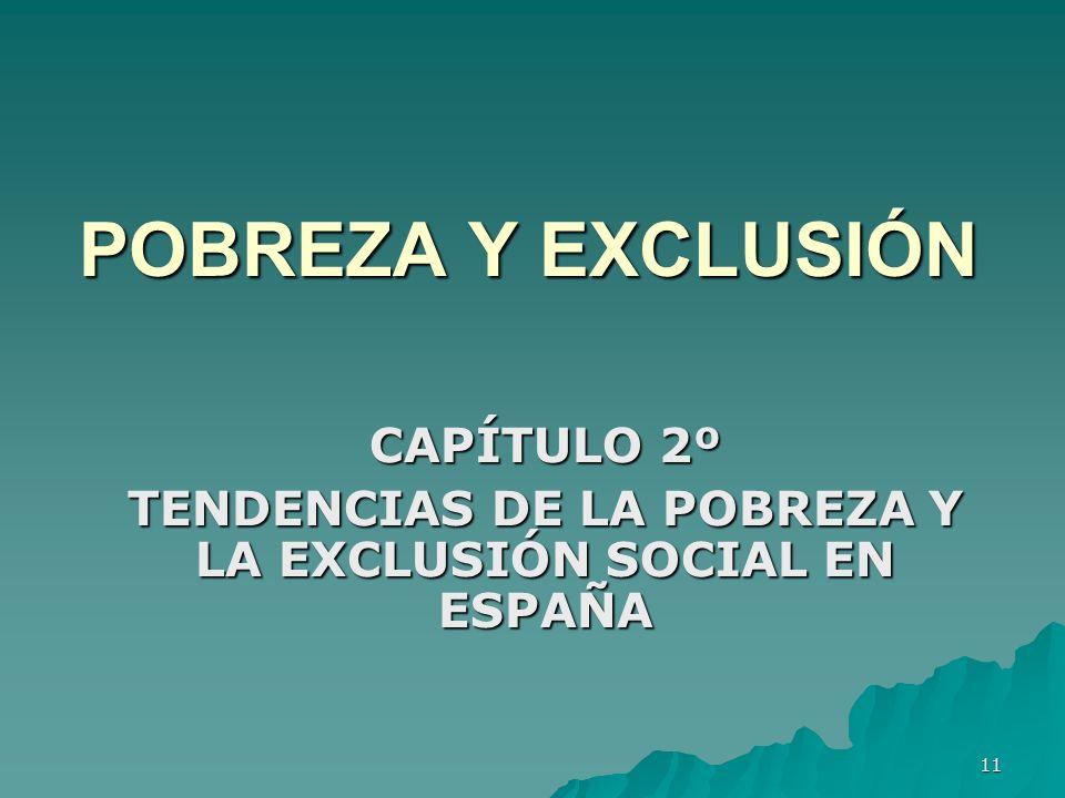 11 POBREZA Y EXCLUSIÓN CAPÍTULO 2º TENDENCIAS DE LA POBREZA Y LA EXCLUSIÓN SOCIAL EN ESPAÑA