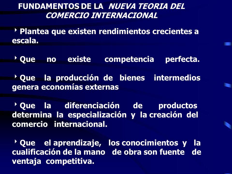 NUEVAS TEORIAS DEL COMERCIO INTERNACIONAL (Paul Krugman, Rudiger Dornsbush, Paul Romer, Machael Porter) TEORÍA DE LA BRECHA TECNOLOGÍCA TEORÍA DEL CIC