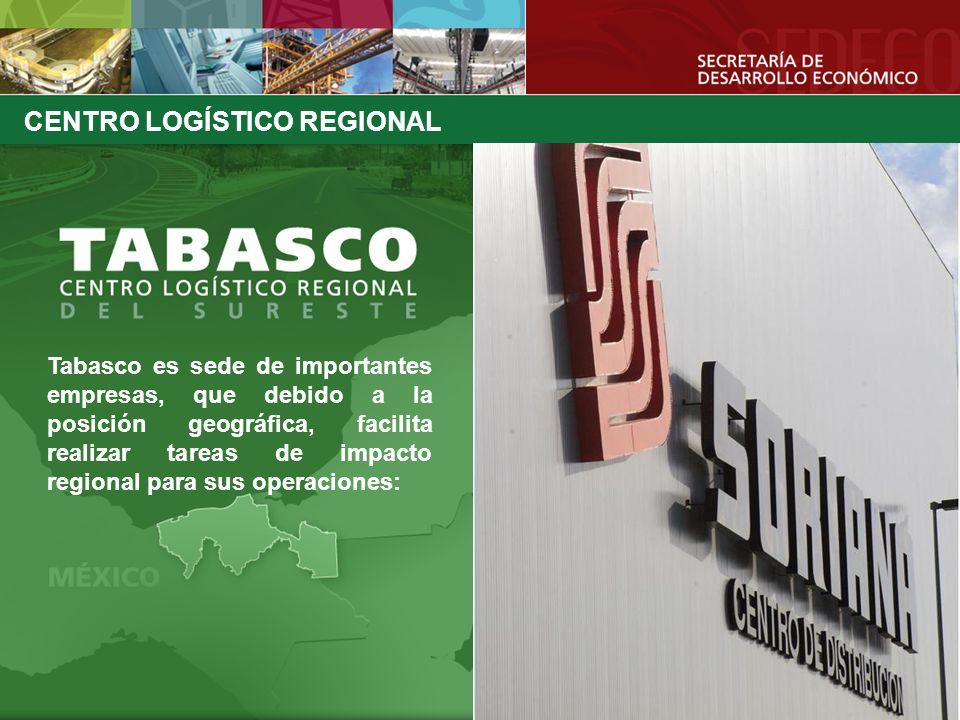 Tabasco es sede de importantes empresas, que debido a la posición geográfica, facilita realizar tareas de impacto regional para sus operaciones: CENTR