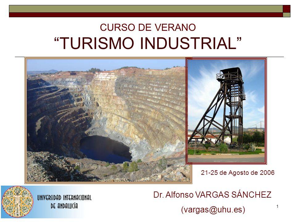 1 CURSO DE VERANO TURISMO INDUSTRIAL 21-25 de Agosto de 2006 Dr. Alfonso VARGAS SÁNCHEZ (vargas@uhu.es)