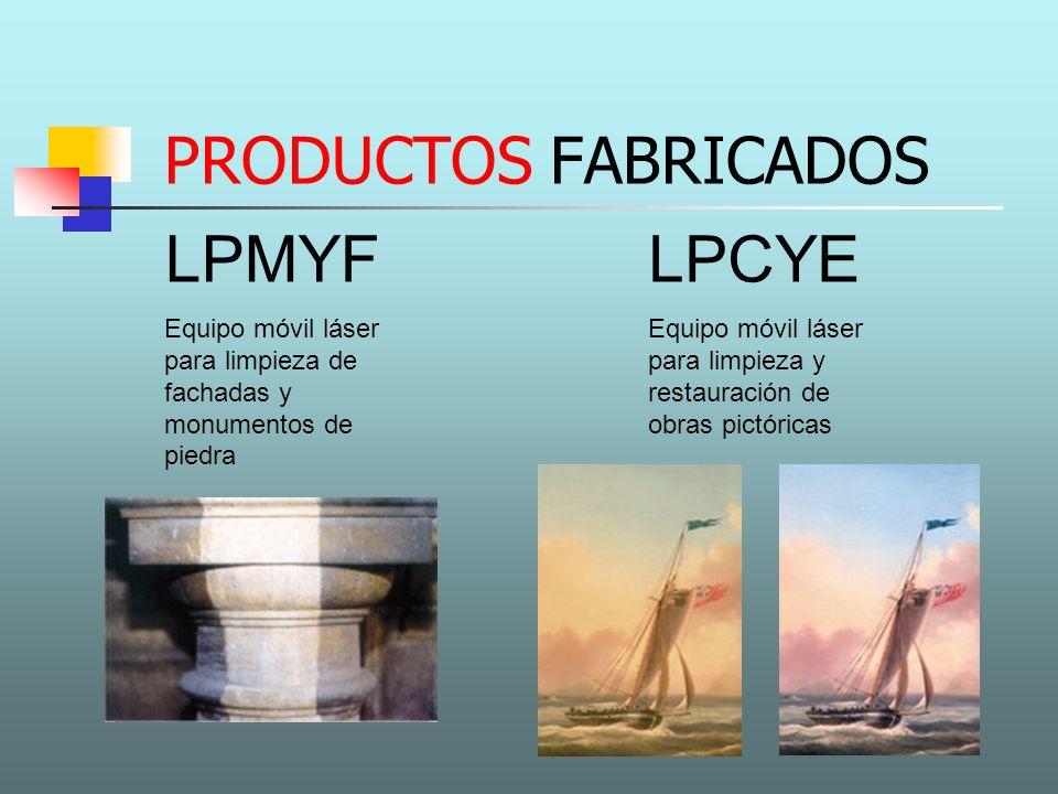 PRODUCTOS FABRICADOS LPMYF Equipo móvil láser para limpieza de fachadas y monumentos de piedra LPCYE Equipo móvil láser para limpieza y restauración d